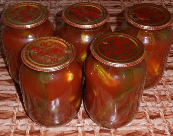рецепт салаты в томате на зиму фото