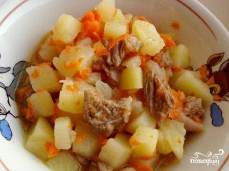Телятина, тушеная с картошкой