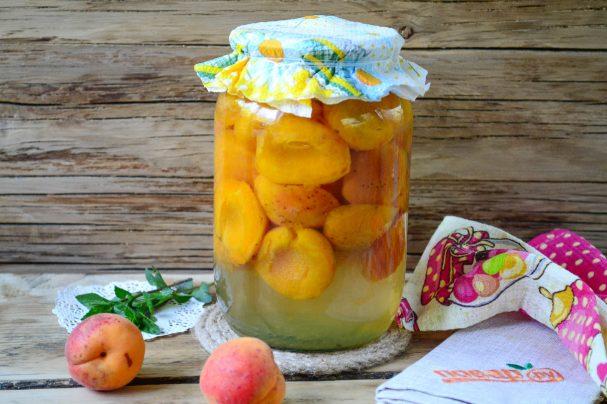 Консервация абрикосов дольками