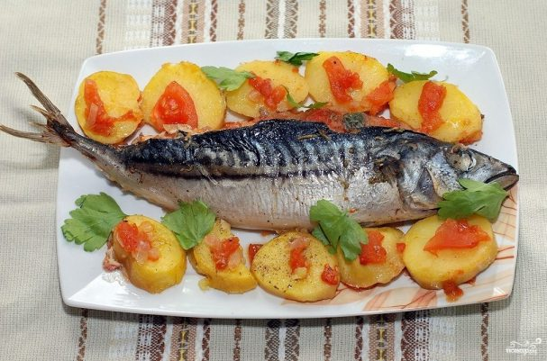 Рыба фаршированная и запеченная