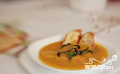 Суп из тыквы с шалфеем