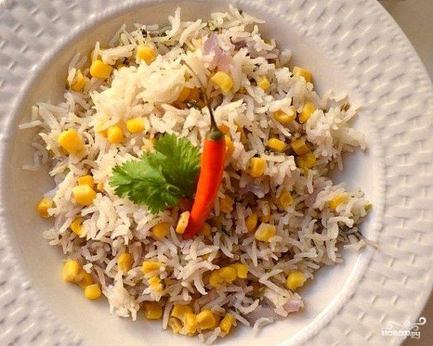 Рис с кукурузой в мультиварке