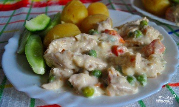 рецепт фрикасе из кролика в винном соусе