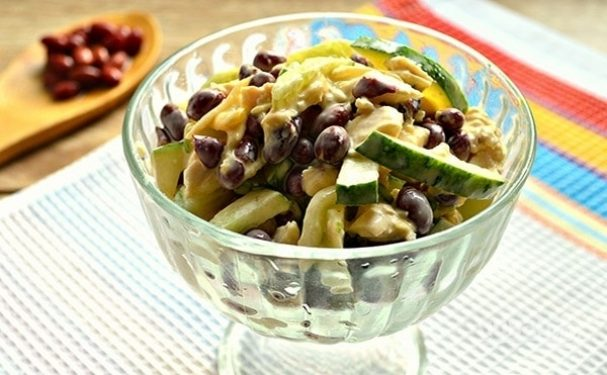 салат из курицы и фасоли пошаговый рецепт с фото