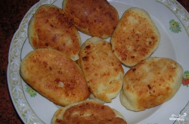 Пирожки с капустой из творожного теста