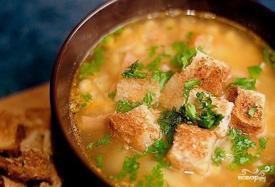Гороховый суп с окороком