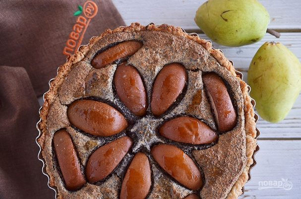Маковый пирог с грушей