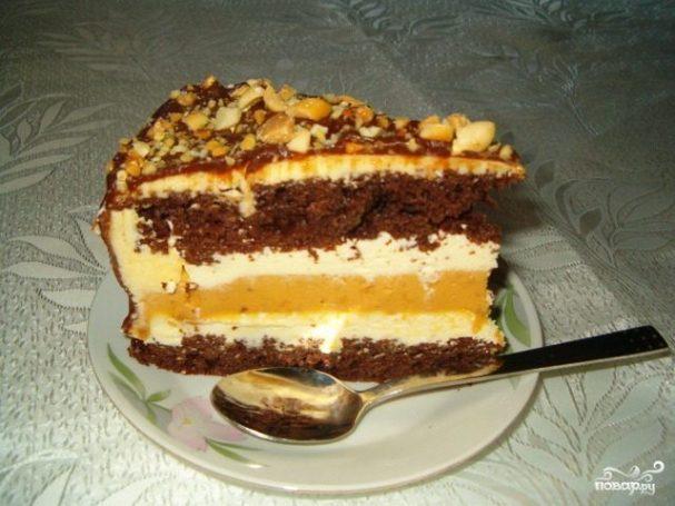 Без выпечки торт сникерс рецепт с пошагово
