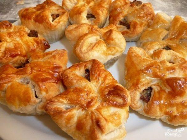 Слоеные пирожки в аэрогриле