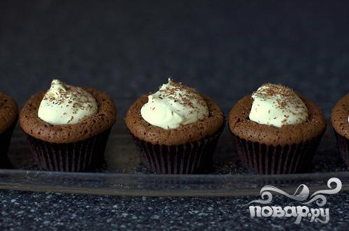 Шоколадные кексы с мятным кремом