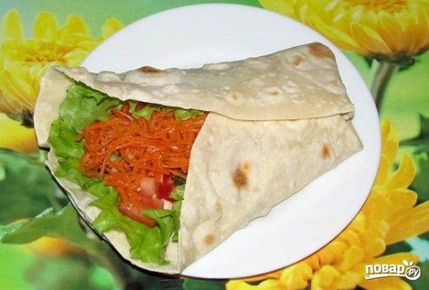 Начинка для лаваша с корейской морковкой