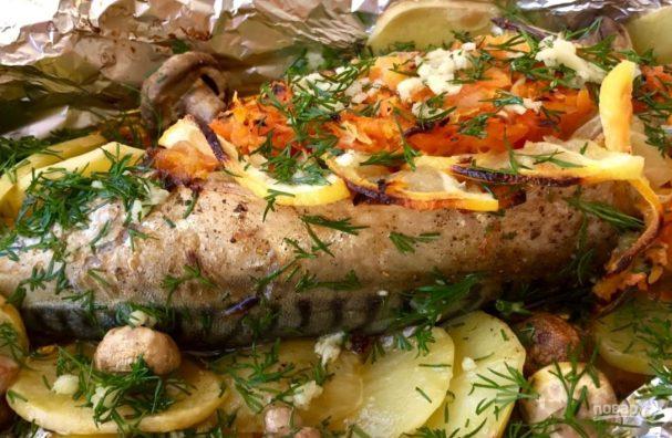 Скумбрия в духовке (вкусный обед)