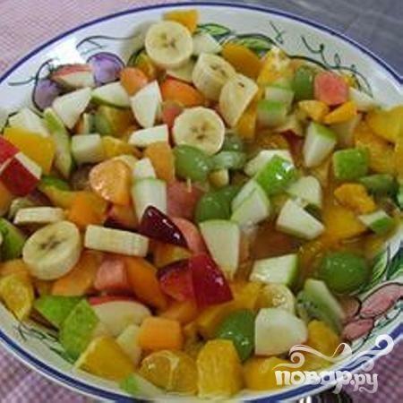 Самый простой фруктовый салат