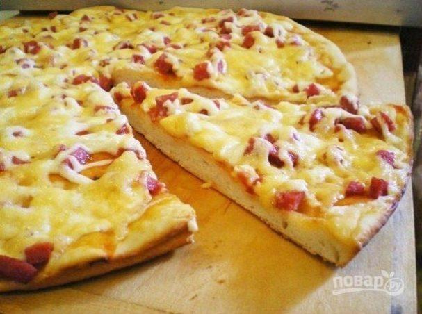 Пицца на тесте из кефира
