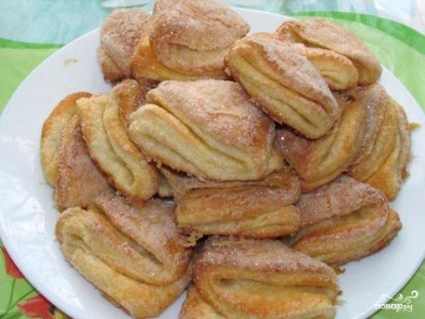 Рецепт печенья гусиные лапки с творогом пошагово