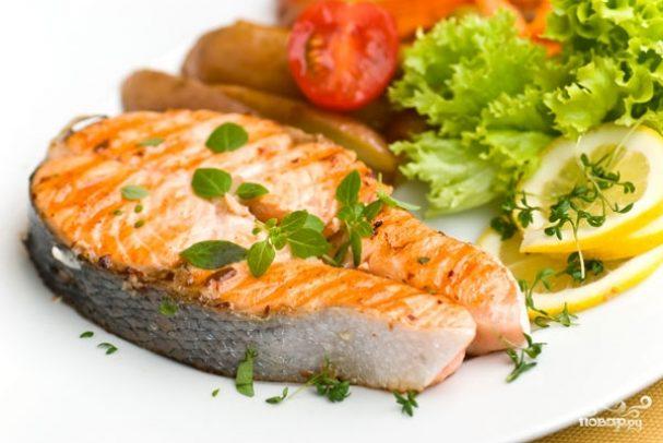 рыба кета фото рецепт стейк