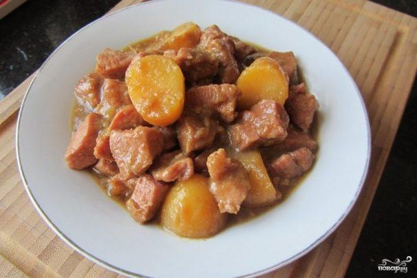 Мясо с картофелем в фольге