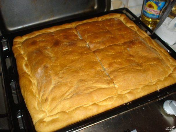 Дрожжевой пирог на кефире