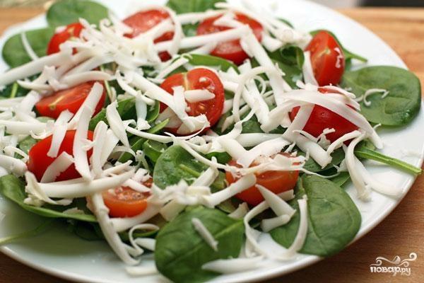 Салат со шпинатом, огурцами, картошкой и горошком - Кушать нет