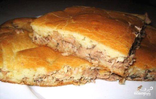 Быстрый рыбный пирог на кефире