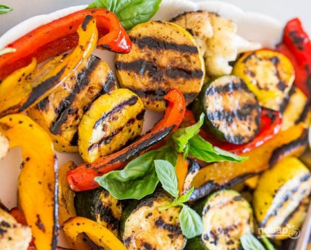 Рецепты овощи на гриле