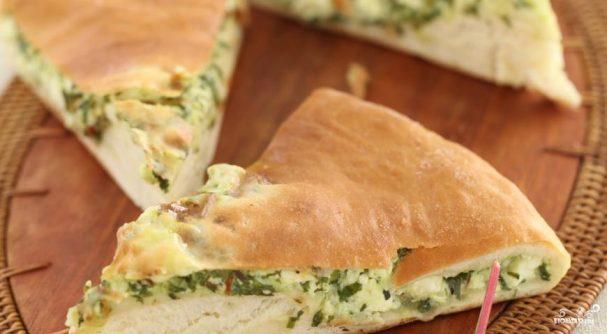 Пирог осетинский с ботвой