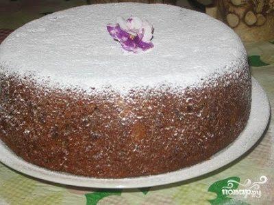 Пирог с курагой в мультиварке