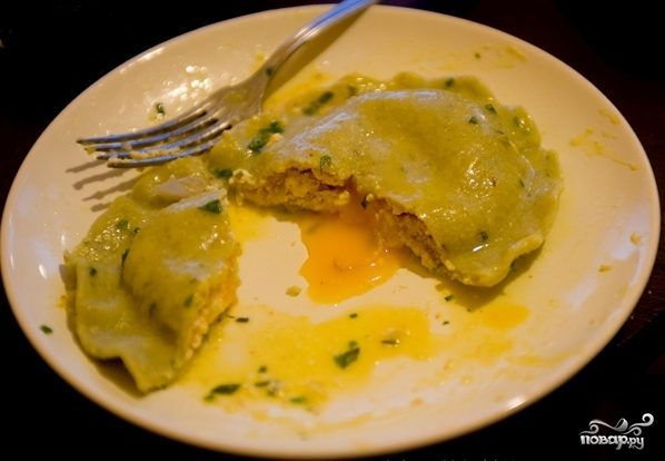 Равиоли с яйцом