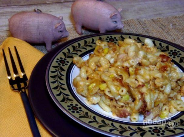 Свинина с макаронами