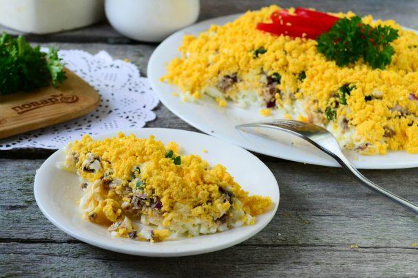Салаты мимоза рецепты с маслом