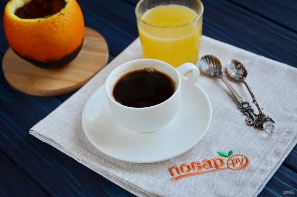 Кофе в апельсине «Бодрячок»