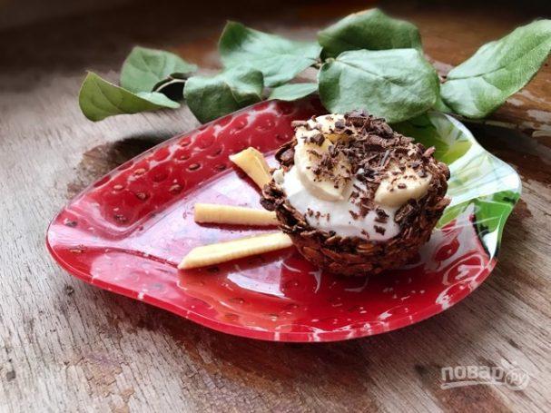 Гранола-корзинки с греческим йогуртом