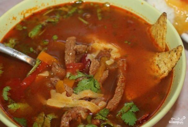 Мексиканский фасолевый суп