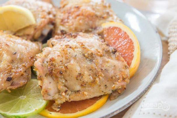 Куриные бёдра в цитрусовой заправке