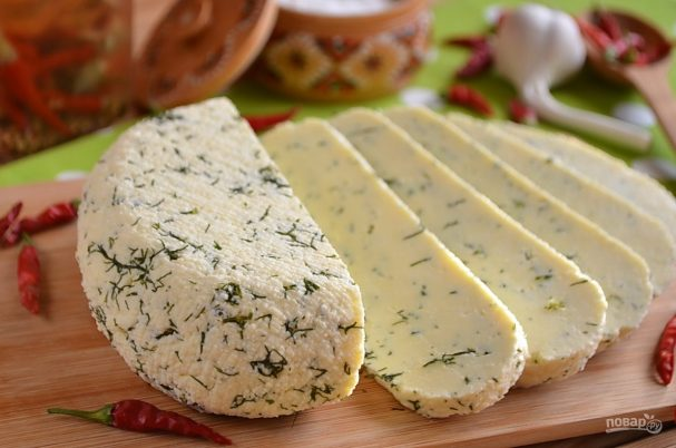 Сыр из молока и сметаны