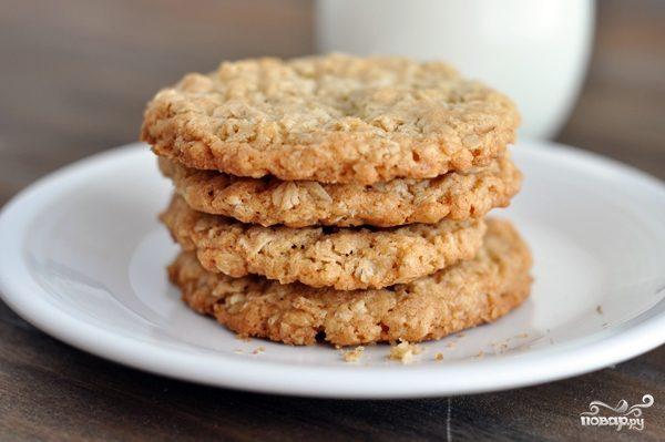 Диетические овсяные печенья