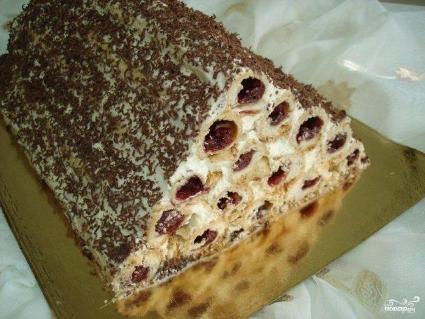 """Торт """"Монастырская изба"""" с вишней"""