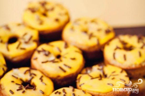 Банановые пончики в глазури