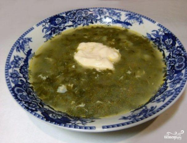 Суп из консервированного щавеля