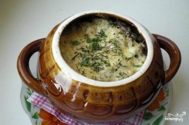 Картошка с сыром в горшочке