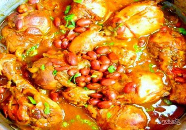 Красная фасоль с курицей