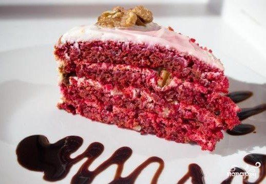 "Торт ""Красный бархат"" без красителя"