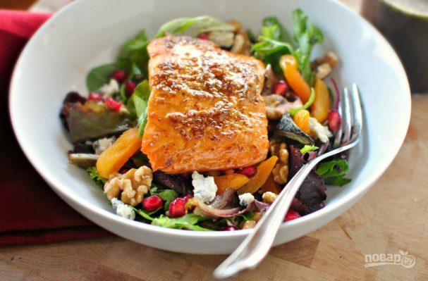 Салат из красной рыбы (семги)