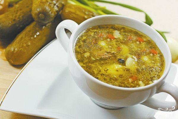 Суп из соленых огурцов рецепт 84