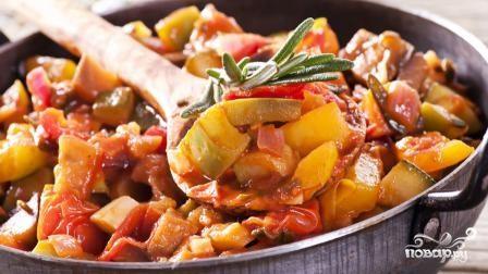 Рататуй с мясом и картошкой