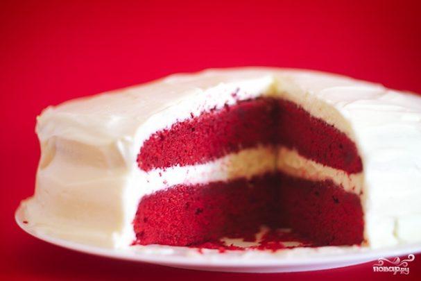 Торт красный