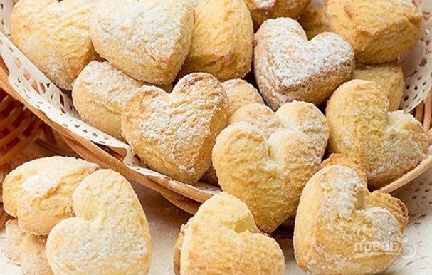 печенье на кефире в духовке рецепт с фото пошаговый рецепт