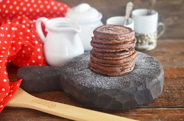 Шоколадные оладушки за 5 минут
