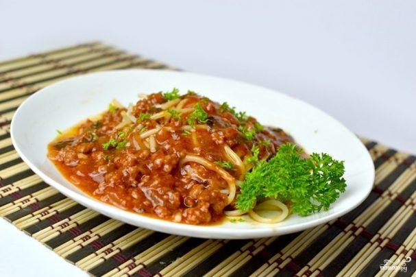 Соус с фаршем для спагетти