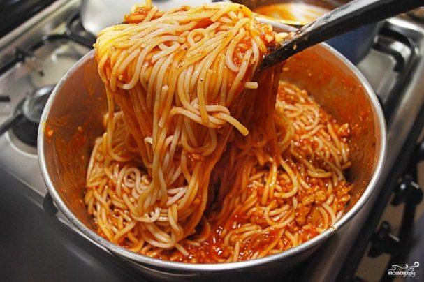 Подливка к спагетти с фаршем